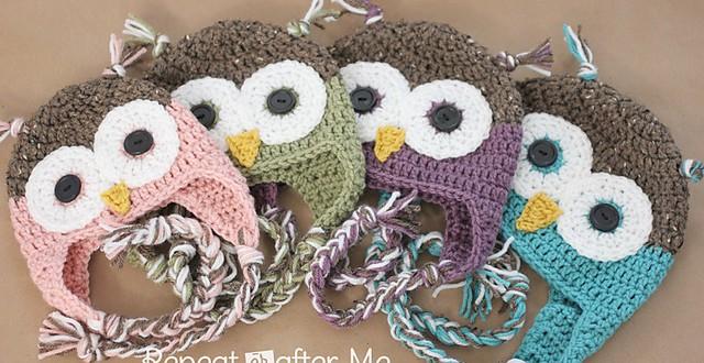 GORRO DE BÚHO   CrochetyAmigurumis.com