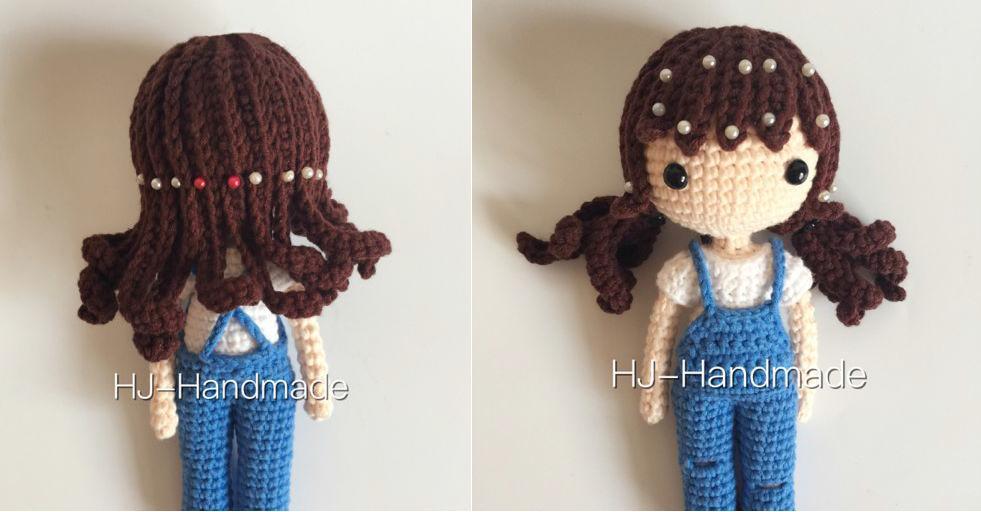 pelo de la muñeca de crochet