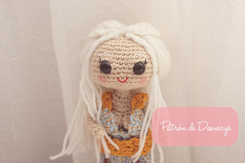 Amigurumi madre de dragones: Daenerys | CrochetyAmigurumis.com