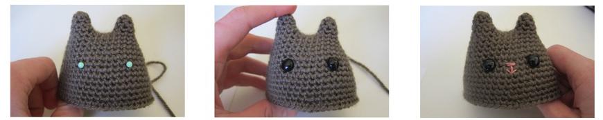 ojos gato amigurumi