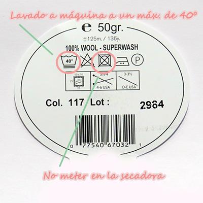 Leer etiquetas de lanas e hilos