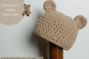b8bb30267 Este es el primer patrón con el que estreno la sección de tejidos a crochet  para bebés. Es la traducción del patrón de gorro de oso para recién nacidos  de ...