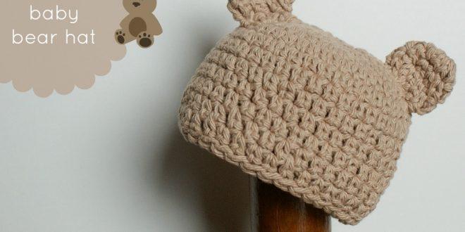 Gorro de crochet de oso para recién nacidos  6419af18313