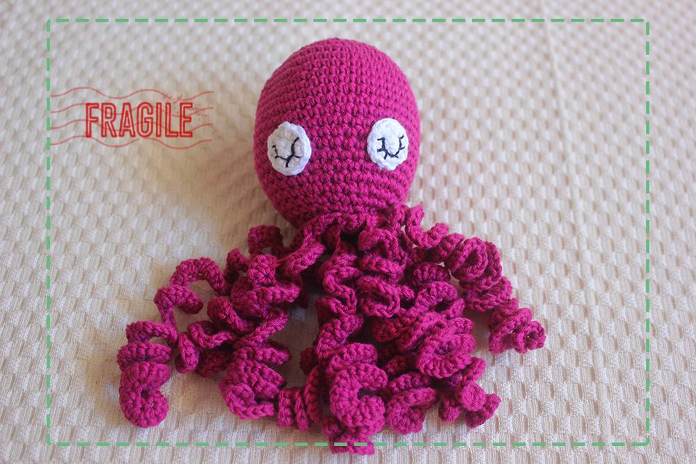 Pulpo de crochet para niños prematuros | CrochetyAmigurumis.com