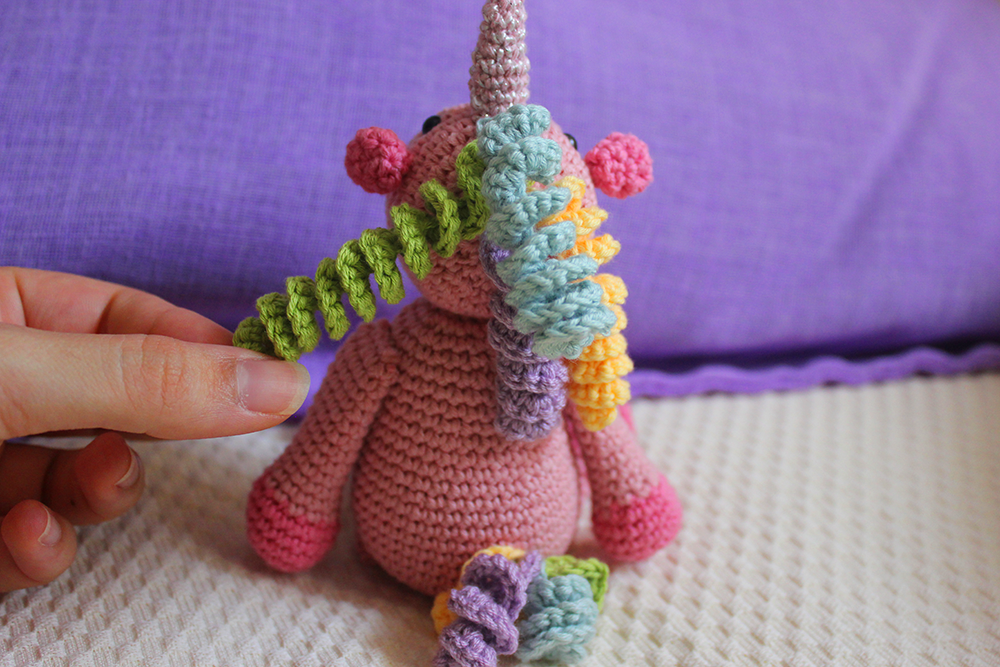 Unicorn Purse Crochet – Minasscraft Patrones Amigurumis | 667x1000