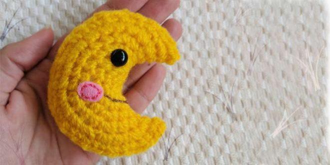 Patrón para hacer una luna de crochet paso a paso
