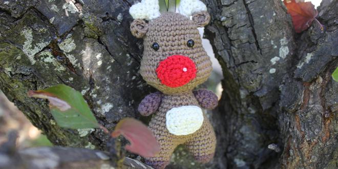 Amigurumi de NAVIDAD del reno Rudolph a crochet...patrón gratis ... | 330x660