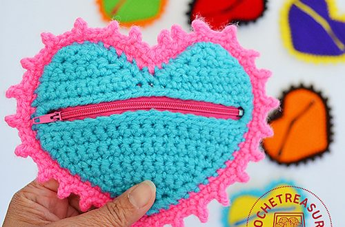 Monedero Corazon De Crochet Crochetyamigurumiscom - Monedero-crochet-patron