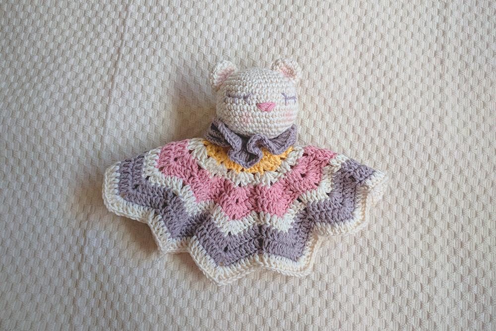 Mantita de apego de osito | CrochetyAmigurumis.com