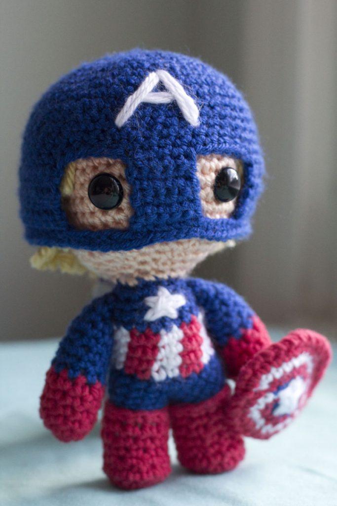 Capitán América Amigurumi