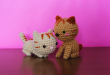 gato de crochet kawaii