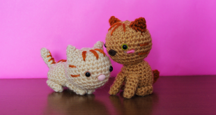gato de crochet kawaii