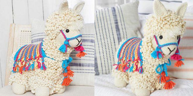 llama de crochet