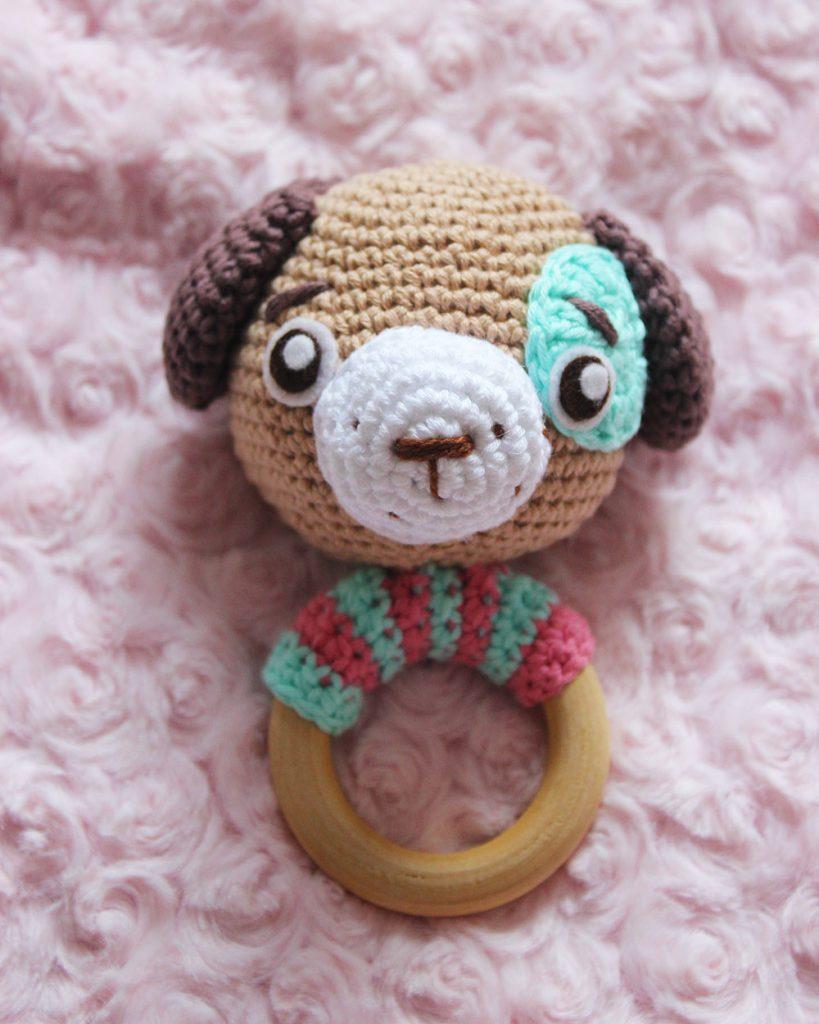 sonajero de crochet para bebes