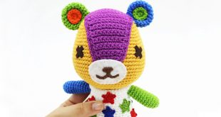 amigurumi de parches de animal crossing